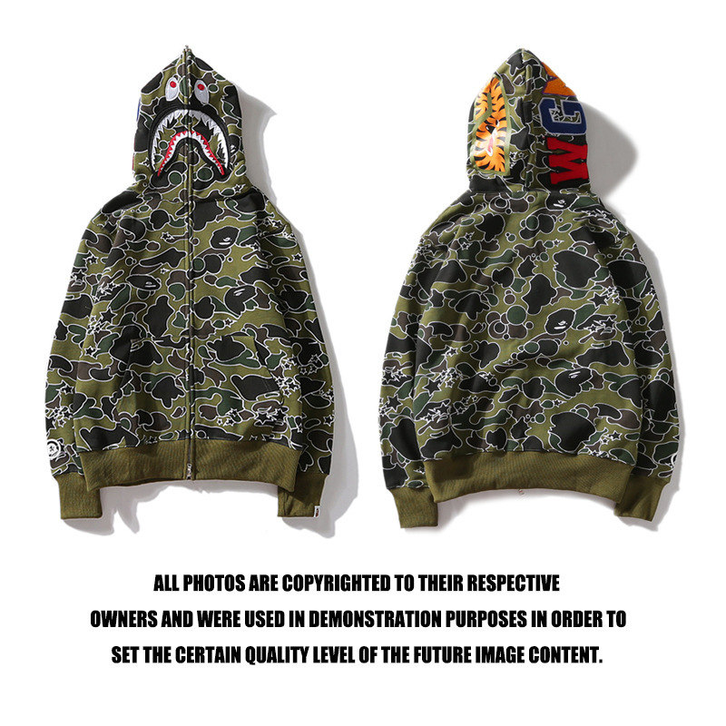 Bape Акула Толстовка болотный камуфляж AAPE By A bathing ape
