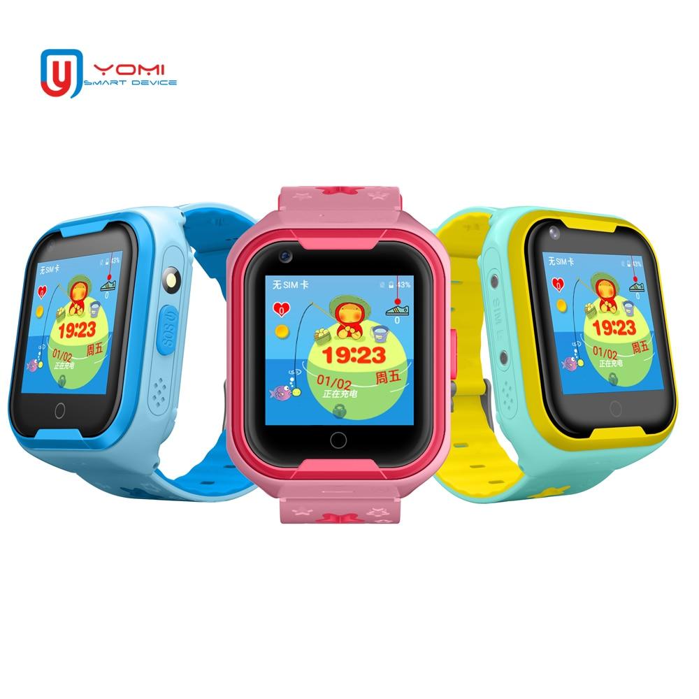 2018 Nouveau 4G Vidéo montre connectée pour Enfants Bébé Professionnel gps étanche WIFI Positionnement Avec Chat Vidéo Caméra SOS Anti- perdu