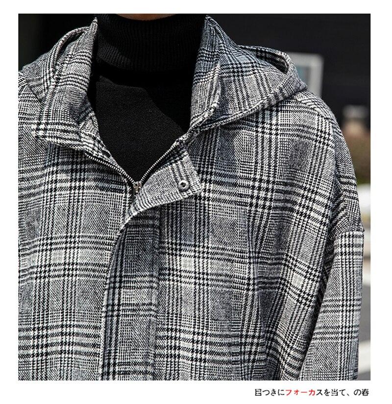 Male Long Coat Oversize Lapel Button Sobretodos Hombre Overcoat Streetwear (36)