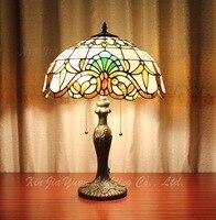 Стекло настольная лампа Европа Стиль настольная лампа lamparas де меса Abajur пункт кварто Абажуры для Настольные лампы 16 дюймов