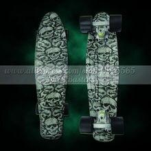 Peny skateboard wheels longboard 22″ Retro Mini skate trucks Fish Long Board cruiser complete tablas de skate pp women men skull