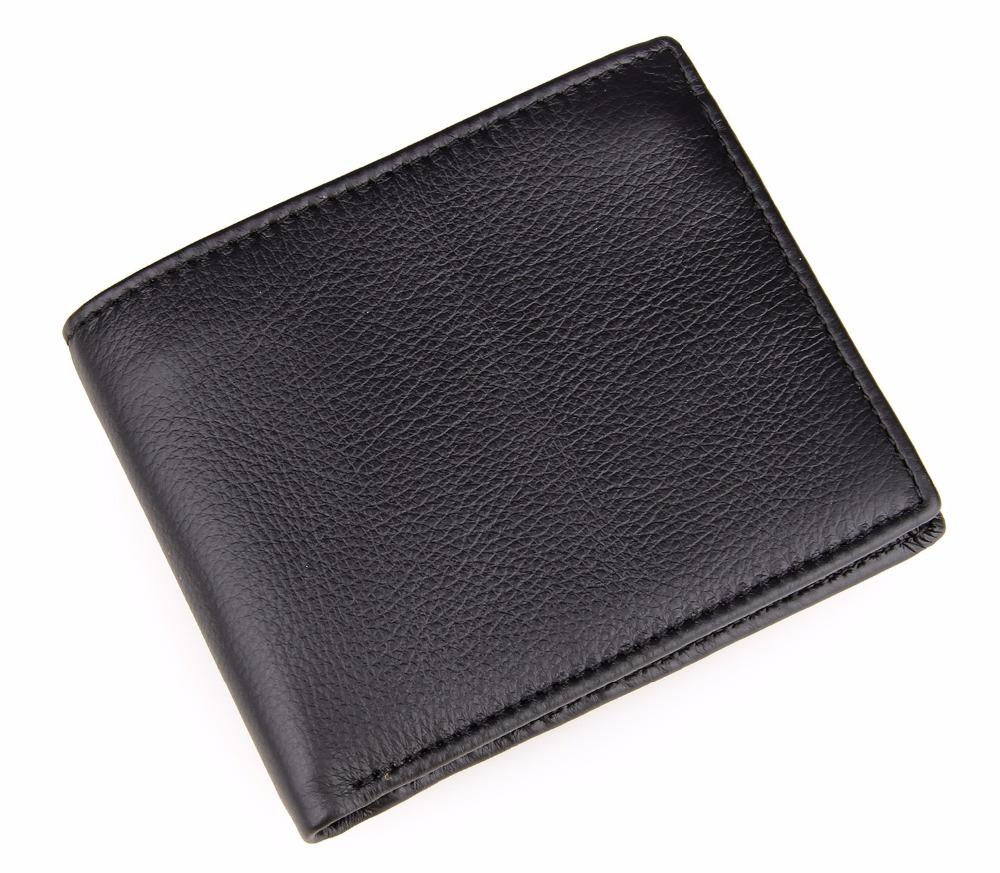 Fashion classic leather wallet portable small leather wallet man cross section type of European and American style purse