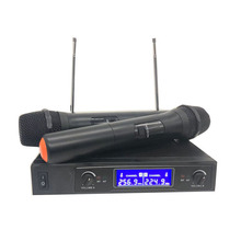 Wireless Microphone System Dual Cordless Handheld 2 Channel Professional Kit For Studio Karaoke