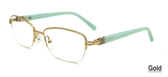 Gold Women Glasses