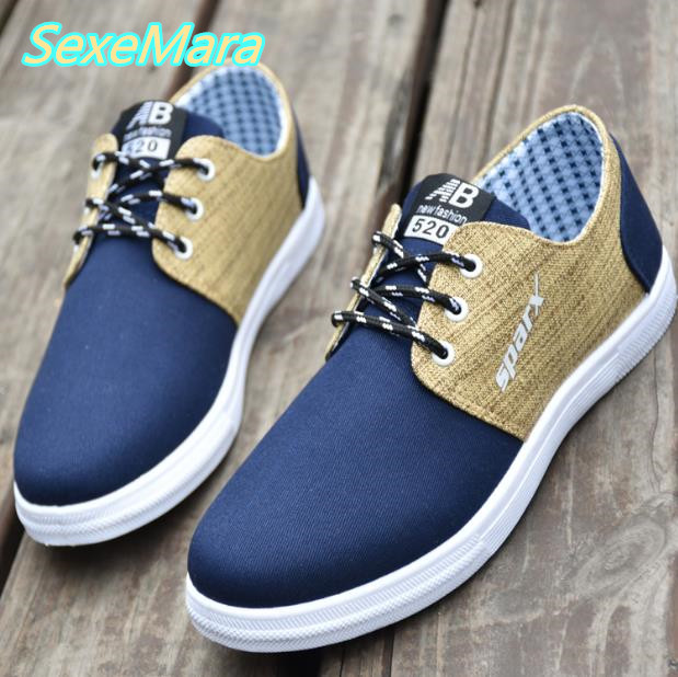 Blue Shoes Men Casual Canvas Shoes 2017 Spring New Black Men Shoes Loafers Lace Up Flats Boat Shoes Zapatillas Hombre Size 38-44 men shoes men s flats 2017 new spring autumn fashion comfortable canvas men s for man casual shoes zapatillas hombre plus size