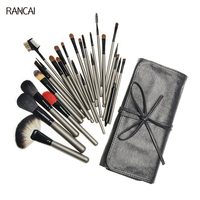 Professional 26pcs Makeup Brushes Set High Quality Goat Hair Brush Pinceaux Maquiagem for Make Up Cosmetics with Leather Bag