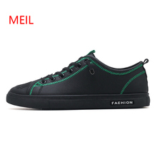Hot Men Spring Autumn Shoes Men's Leather Sneakers Trend Black Red Casual Lace Up Loafers Leather Men Flats Leisure Oxford Shoes spring men low top casual shoes lace up loafers breathable sneakers youth popular shoes male flats black red 01b