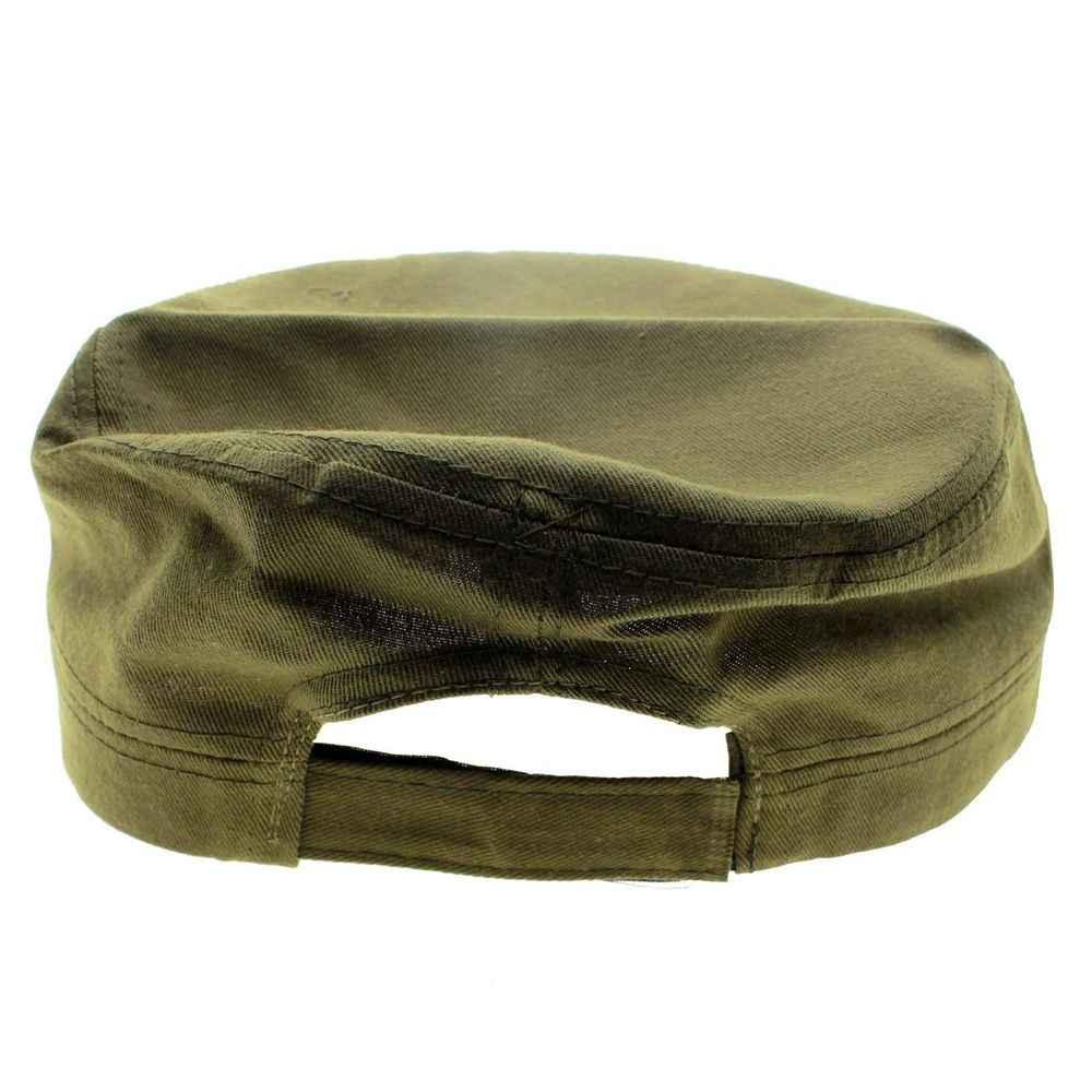 אופנה 1Pcs כותנה בד מתכוונן מקרית סין ירוק שטוח כובעי חם אדום כוכב יוניסקס רטרו הסיני סיירת צבא כובע מתנות