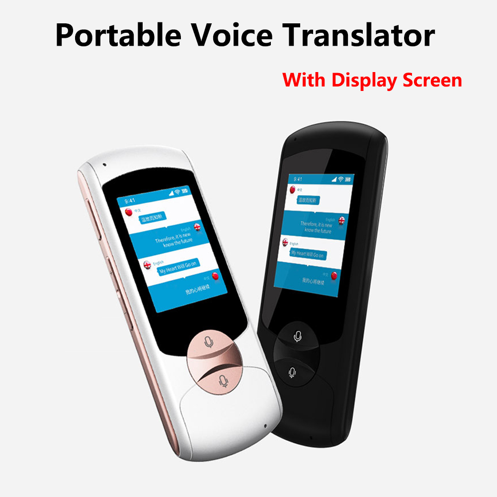 Portable Smart Voice Speech Translator Two-Way Real Time 41 Multi-Language Translation For Learning Travelling Business Meeting portable smart voice translator two way real time wifi 43 languages instant traductor translation for learning meeting business