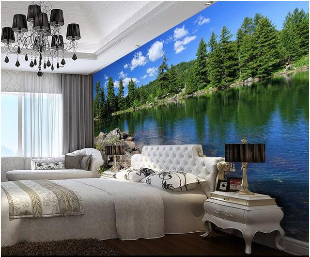 3d wallpaper custom mural non woven wall stickers green beautiful rural scenery bedroom setting