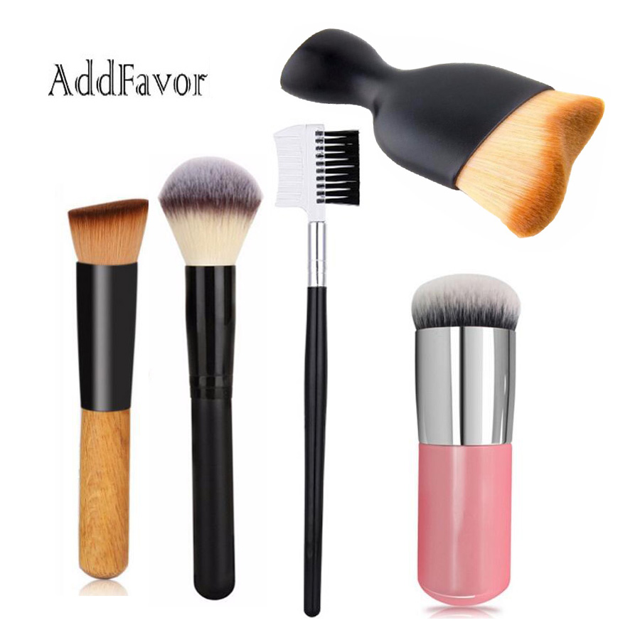 AddFavor Oval Kabuki Professional Foundation Makeup Brushes Round Face Powder Brush Concealer Blush Brushes Cosmetic Tools