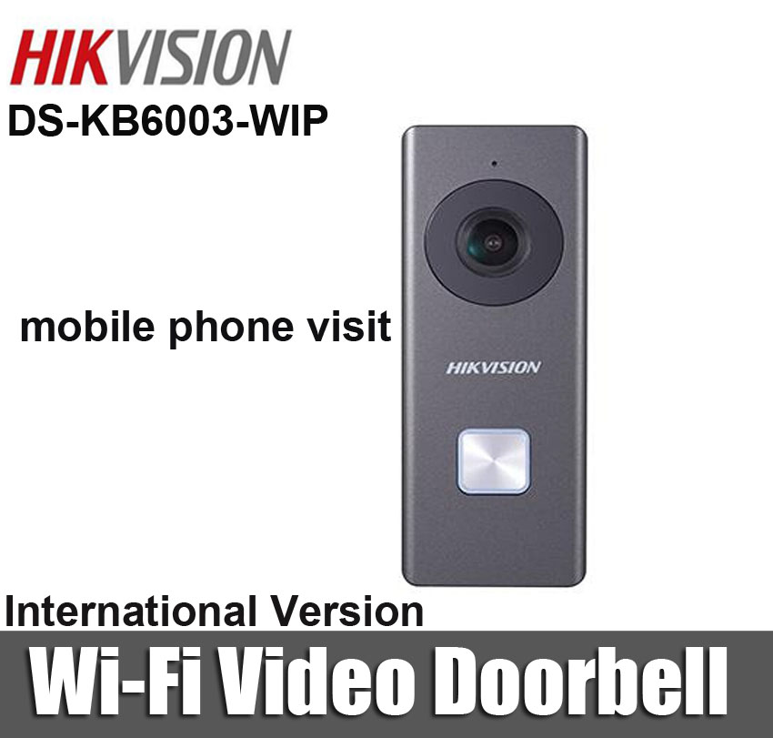 US $181 0 |Hikvision DS KB6003 WIP Wireless Video Doorbell CMOS 2MP HD  Camera WDR IP54 Two way Audio with TF Card interf wifi video intecom-in  Video