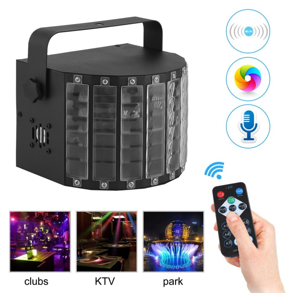 Portable Sound Active LED Light Gleam Mini Disco Stage Light Lightweight Laser Stage Effect Lamp Party Club DJ Bulb EU Plug NEW