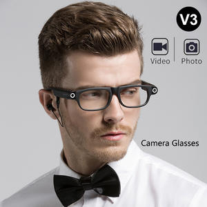 Mini Camcorders Glasses Bluetooth Smart Sports 1080P Wireless Headset DV HD with Calls/music