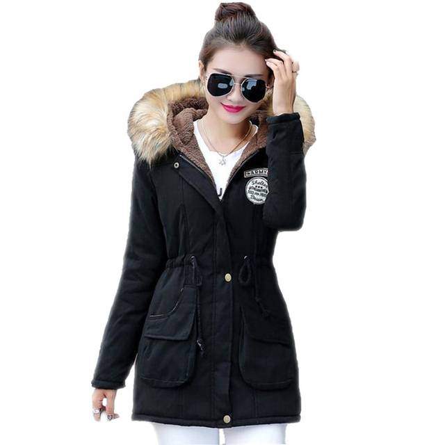 01e5cc97e3cf3 New Long Parkas Female Women Winter Coat Thickening Cotton Winter Jacket  Womens Outwear Parkas for Women