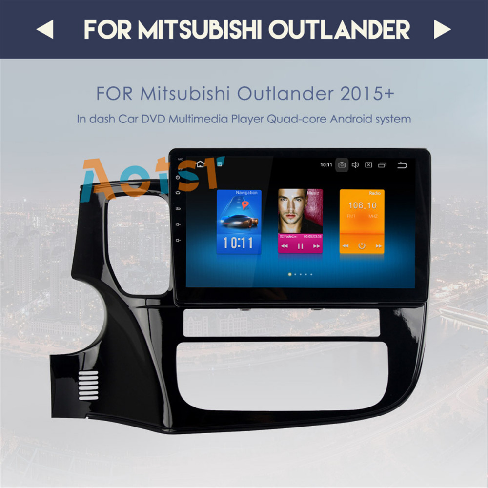 top quality 10 2 Android 8 0 tape recorder Car DVD GPS for MITSUBISHI OUTLANDER 2014