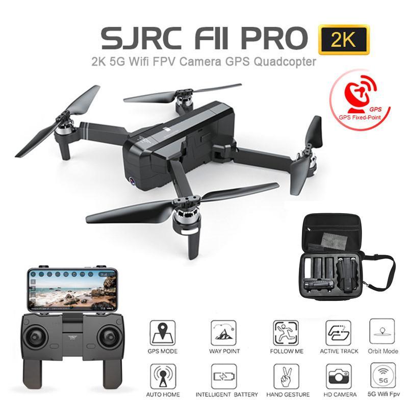 SJRC F11 PRO 5G GPS Drone Wifi FPV 1080P/2K HD Camera F11 Brushless RC Quadcopter 25 Minutes Flight Time Foldable Dron Vs SG906