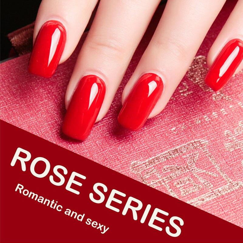 2019 New hot style tasteless non-shrink adhesive durable removable gel polish LED&UV nail polish adhesive rose red wine series