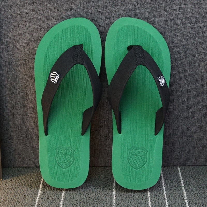 ; летние пляжные шлепанцы; мужские вьетнамки высокого качества; пляжные сандалии; zapatos hombre; Повседневная обувь; ; WS321 - Цвет: Green