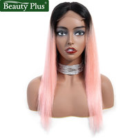 Rose Pink Lace Front Human Hair Wig Brazilian Straight Hair Extensions Beauty Plus Remy Hair Ombre 1b Gray Hair Lace Front Wig