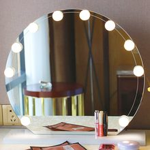 10/12 LED Bulb Vanity Makeup Mirror Cold Light LED Vanity Mirror Lamp Kit Lens Headlight Hollywood Style Dresser Lamp Accessory(China)