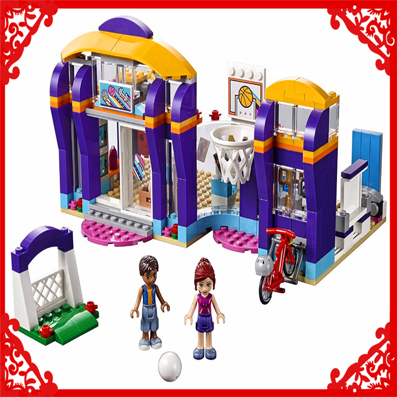 LEPIN 01012 Friends Series Heartlake Sports Centre Building Block 338Pcs DIY Educational  Toys For Children Compatible Legoe hot sale 1000g dynamic amazing diy educational toys no mess indoor magic play sand children toys mars space sand