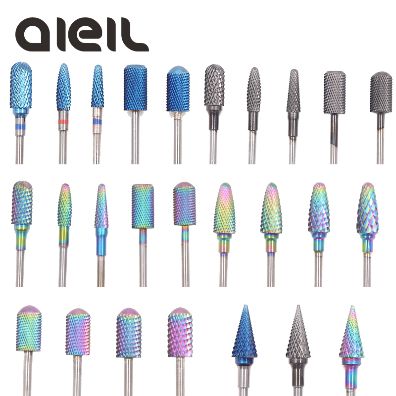 Carbide Nail Drill Bits Rainbow Milling Cutter For Manicure Machine Electric Cutter For Manicure For Electric Nail Drill Machine