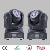 (2pcs/lot) New Arrival 1X10W and 4X10W Mini Led Moving Head Light Double Face RGBW Stage lights super bright LED DJ Spot Light