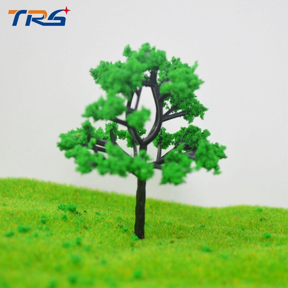 50pcs Tronco Verde Paisagem 6cm Modelo de Escala Arquitetônica Árvore Em Miniatura Para Layout de Beira de estrada Brinquedos O Micro Estruturas de Plástico
