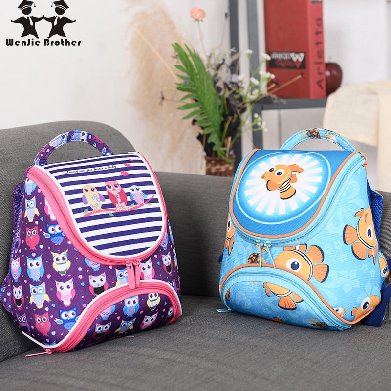 wenjie brother new selling cute Kids for girls and boys baby School Bags school Backpack kindergarten Bag Aged 1-4 bag