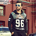 140kg Plus Size Men Hoodies 2016 New Autumn Men's Sportswear Number Printed Hoodies 3 4 5 6 XL1096hood