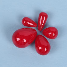 100pcs 6*10 мм красный воды в форме капель имитация жемчуга