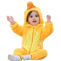 Toddler Newborn Baby Boys Girls Animal Cartoon Hoodie Rompers Outfits Clothes Duck Long Sleeve Baby Romper