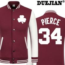 2016 Spring new Celtics The truth Paul Pierce casual jacket cheap men winter jackets male coat boys jacket hip hop youth jackets