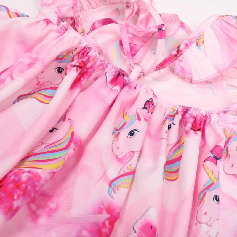 Единорог вечерние платье для маленьких девочек одежда Детские платья для девочек платье принцессы Vestido, Infantil Robe Fille