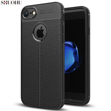 hot deal buy shuohu soft tpu litchi texture phone case for iphone 6 6s 7 8 plus pu leather back cover cases for iphone 8 plus