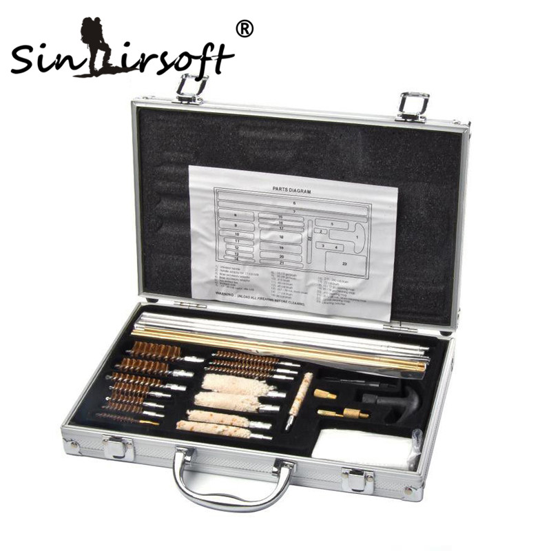 SINAIRSOFT Shootin Cleaning Kit Brush Full Set For Hunting Airsoft Paintball Gun Rifle With Case Brushes Full Set KIT WITH BOX