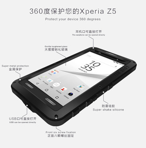 Image 3 - Für Sony Xperia Z5 Premium Liebe Mei Stoßfest Metall Aluminium Fall abdeckung Für Xperia Z5 Kompakte Drei proofing liebe mei telefon
