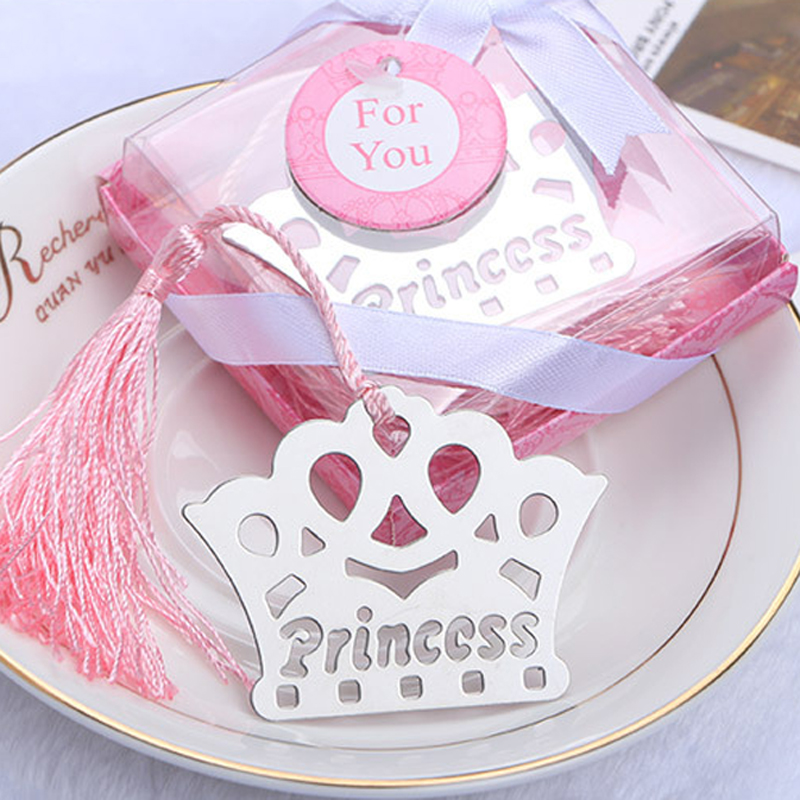 12 Silver Shower Crown Favors Prince Princess Party Baptism Decoration Girl Boy