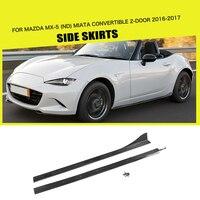 Side Skirts Bumper Aprons Carbon Fiber for Mazda MX 5 ND Miata Convertible RF GX 2 Door 16 17 Car Styling