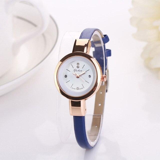 Newest Women's Bracelet Watches Lady dress Round Quartz Analog slim Wristwatch W