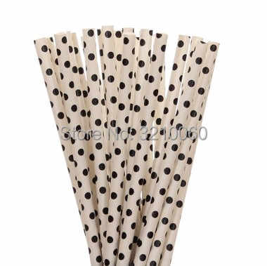 25 шт. черный Бумага трубочки в полоску со звездами Бумага соломой для детей Детская душа Свадьба День рождения Хэллоуин вечерние торт флаг декор