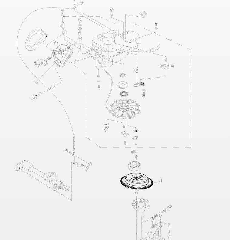 МАХОВИК В СБОРЕ F25 05180000W для Parsun HDX F25BW Электрический старт дистанционный пульт подвесного мотора