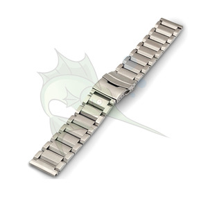 Image 3 - High End Black Silver Stainless Steel Watch Strap 23mm 25mm Flat Type Bracelet Stainless Steel Watchband