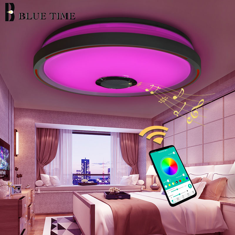 RGB Lustre Modern Led Ceiling Lights For Living room Bedroom Kitchen Lampare techo Chandelier Ceiling Lamp Bluetooth Music LampsRGB Lustre Modern Led Ceiling Lights For Living room Bedroom Kitchen Lampare techo Chandelier Ceiling Lamp Bluetooth Music Lamps