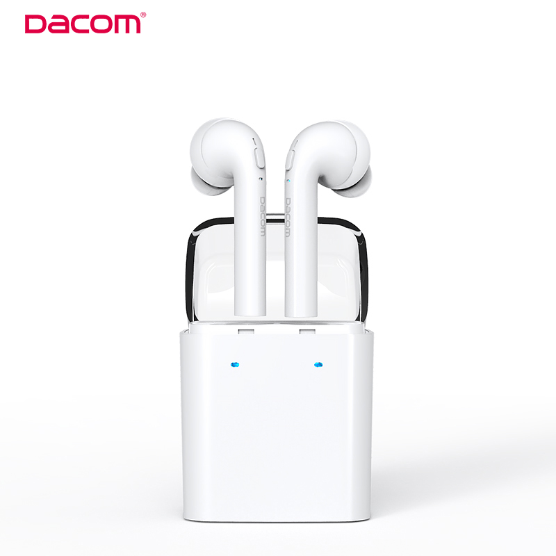 Dacom TWS True Wireless Bluetooth Headset Mini Bluetooth 4.2 Wireless Earpiece Earbuds In-Ear Earphone For Iphone 7 Android remax 2 in1 mini bluetooth 4 0 headphones usb car charger dock wireless car headset bluetooth earphone for iphone 7 6s android