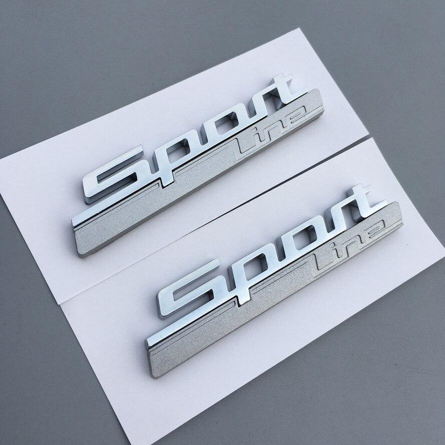 2pcsxABS Plastic Sport Line Sportline Car Side Sticker Emblem Badge Embleme Emblema Logo