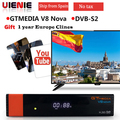 Gtmedia v8 nova DVB S2 FTA Satelliten receiver Freesat v8 mit Europa Clines für 1 jahr Unterstützung H.265 Eingebaute WiFi TV BOX-in Satelliten-TV-Receiver aus Verbraucherelektronik bei