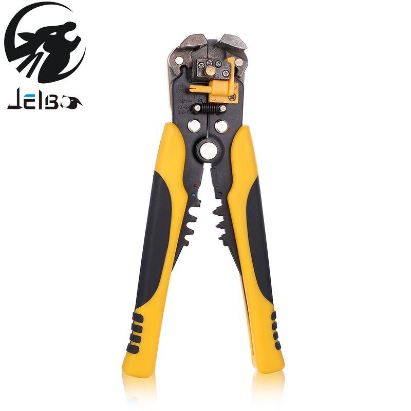 Jelbo 0.2-6.0mm2 Multifonctionnel Automatique Câble À Dénuder Terminal Outil Pince À Dénuder Acier Inoxydable Pince À Sertir Pinces