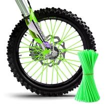 72pcs Universal Dirt Bike Enduro Off Road Motorcycle Wheel Rim Spoke Shrouds Skins Cover